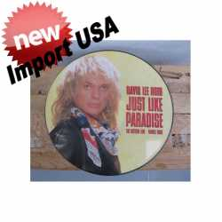 Originele Picture Disk (LP) van David Lee Roth 'just like paradise' 1986-1988