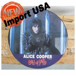 Originele Picture Disk (LP) van Alice Cooper 'Bed of Nails' 1989