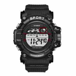 New World LCD Display Digital Military Watch SYNOKE WORLD LED horloge