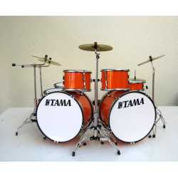 Miniatuur drumstel TAMA (o.a. Toto) orange Flux 7 delige set