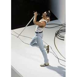 "Rock action figure Freddie Mercury QUEEN "" LIVE AID "" origineel S.H.Figuarts (BAN DAI)"