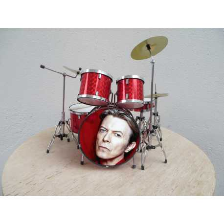 Drumstel IM David Bowie RED glitter